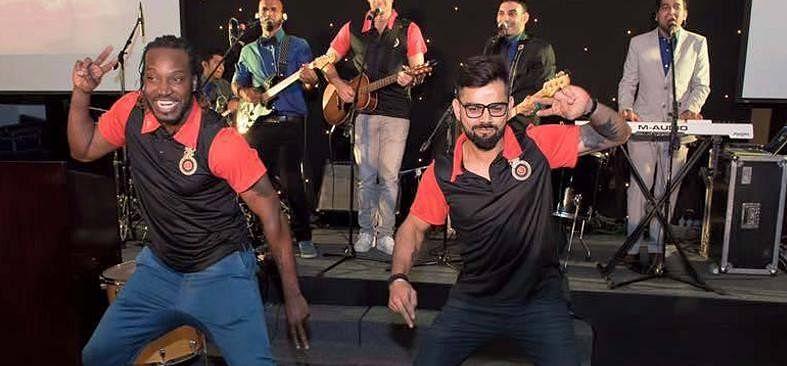 Dance competition between Chris Gayle and Virat Kohli