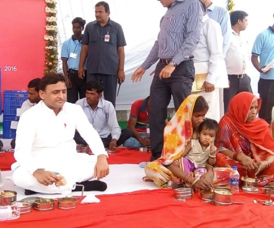 Mid day meal at low price in Uttar Pradesh.