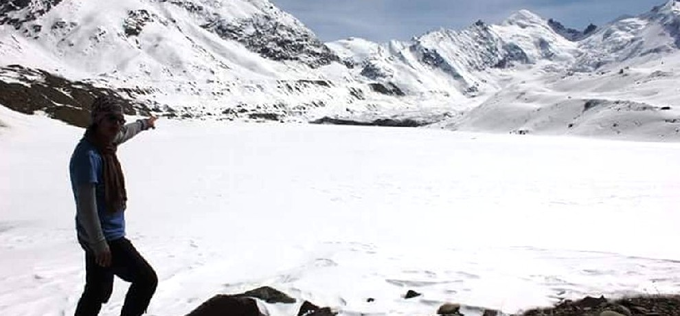 first time snow covered ghepan lake photos gone viral on social media.