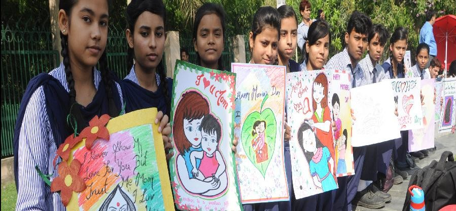pictures of amar ujala mothers day drawing competition