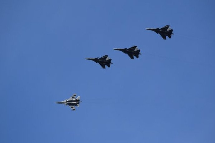 IAF Su30s in the sky during Red Flag Exercise