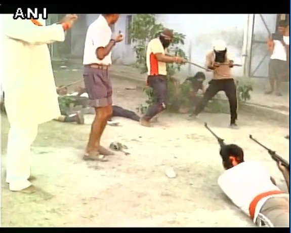 Bajrang dal organized annual self defence camp in ayodhya