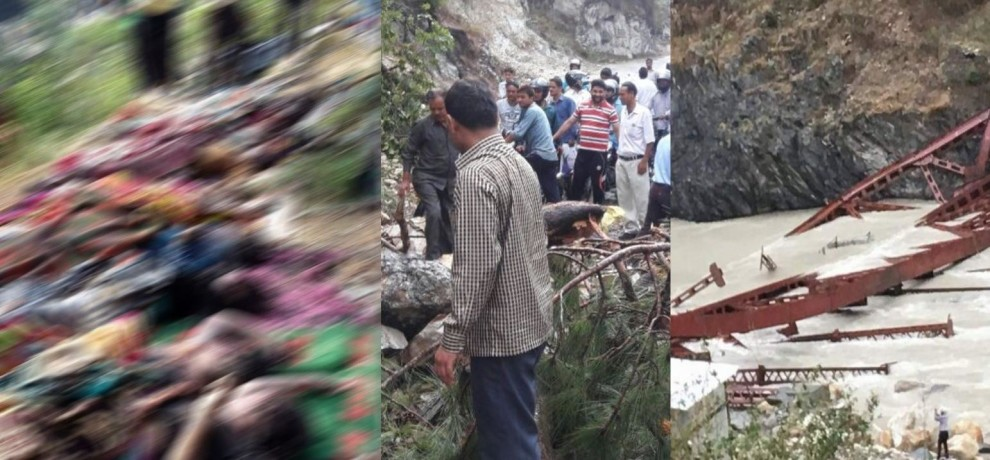 destruction in uttarakhand cause by storm, 14 died.
