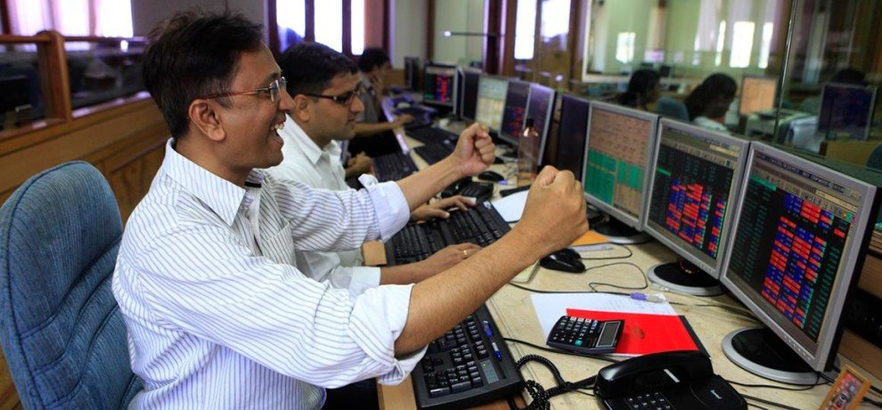 sensex on a record high for the first time