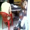 toughness of the UP police , made ​​polished shoes by complainant in Muzaffarnagar of uttar pradesh