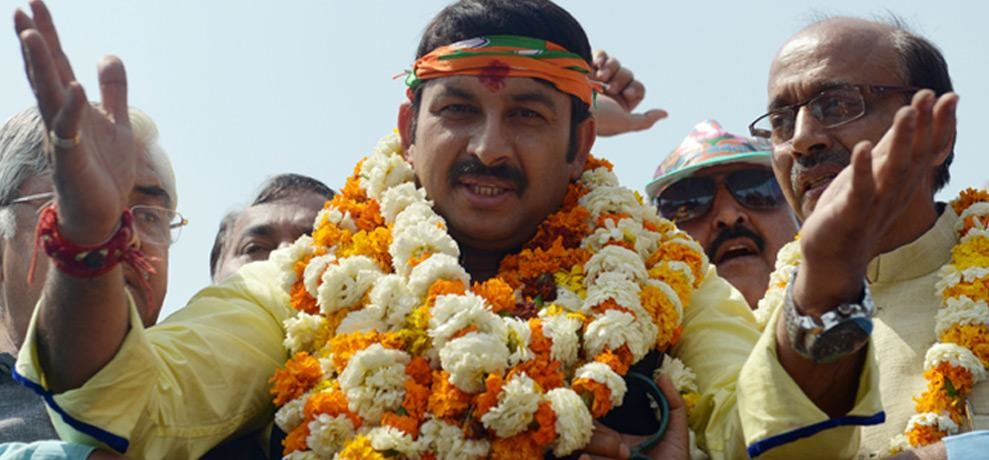 BMC Election Attack on Manoj Tiwari