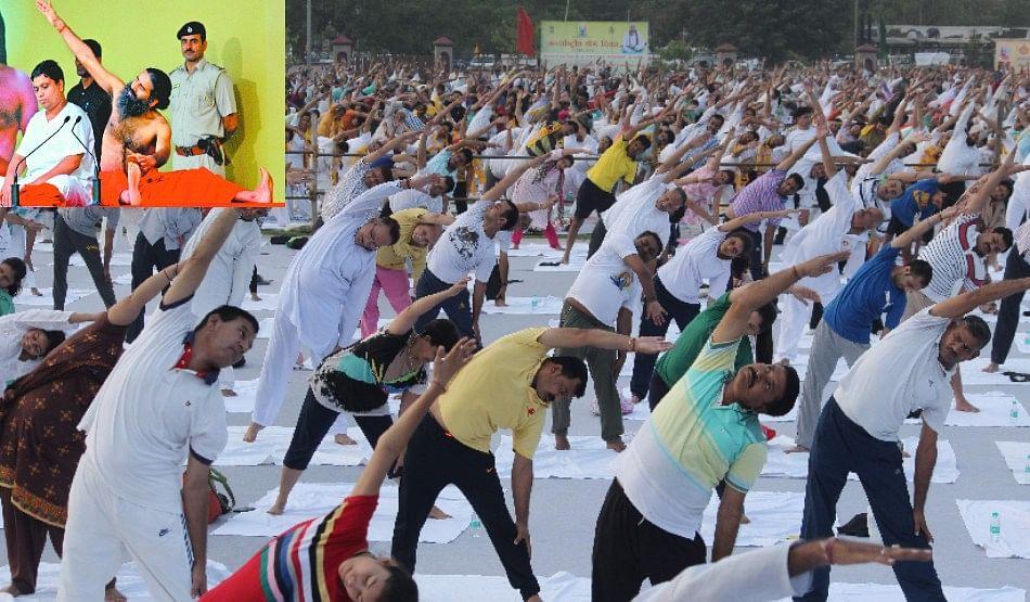 Baba Ramdev Yoga Class At Panchkula International Day
