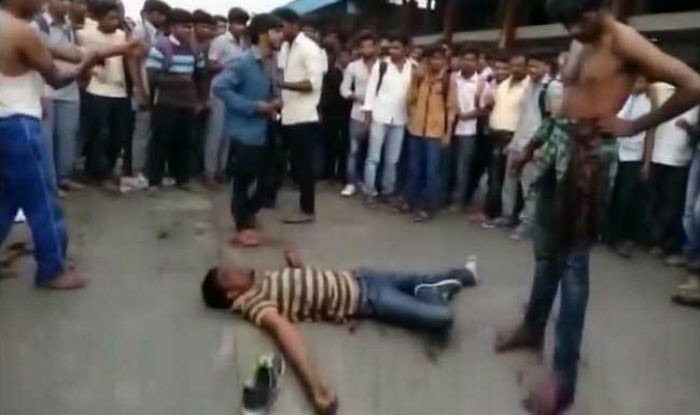 People just film a youth being stabbed at bus stand