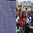 Ruckus during UPSSSC examination in Lucknow.
