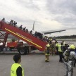 aircraft caught fire while emergency landing