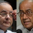 Digvijay singh targeted arun jaitly on swami