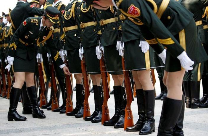 military precision in china