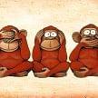 gandhi's 3 monkey reality