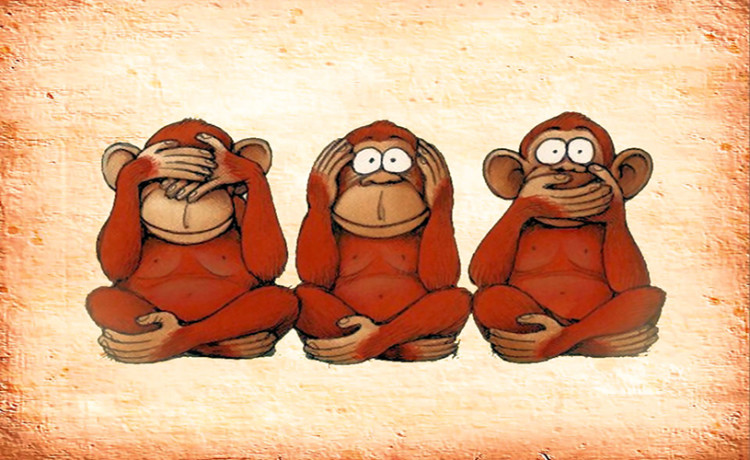 Gandhi's 3 Monkey Reality - गांधी जी के नहीं हैं तीन बंदर ... Gandhiji Ke 3 Bandar Sketch