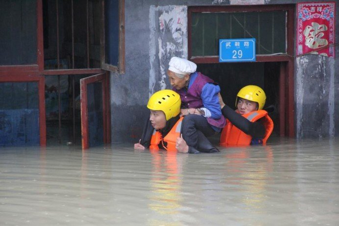 Rising waters in china