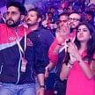 Navya naveli enjoys kabaddi match with Abhishek bachchan