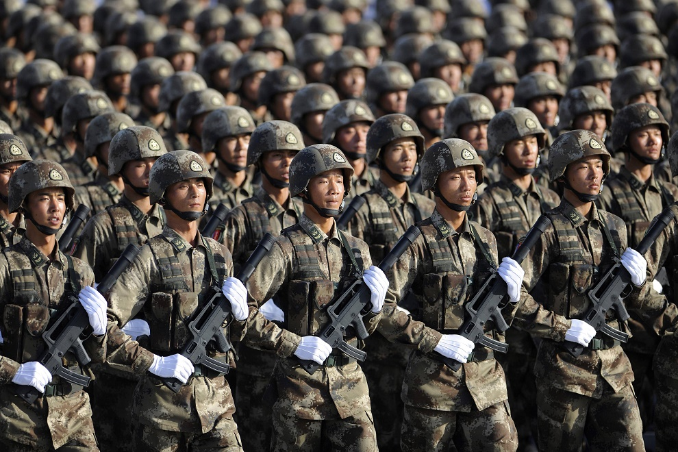 China's defense budget is higher than India but the growth rate is less