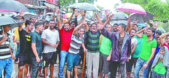 protest in mishriwala