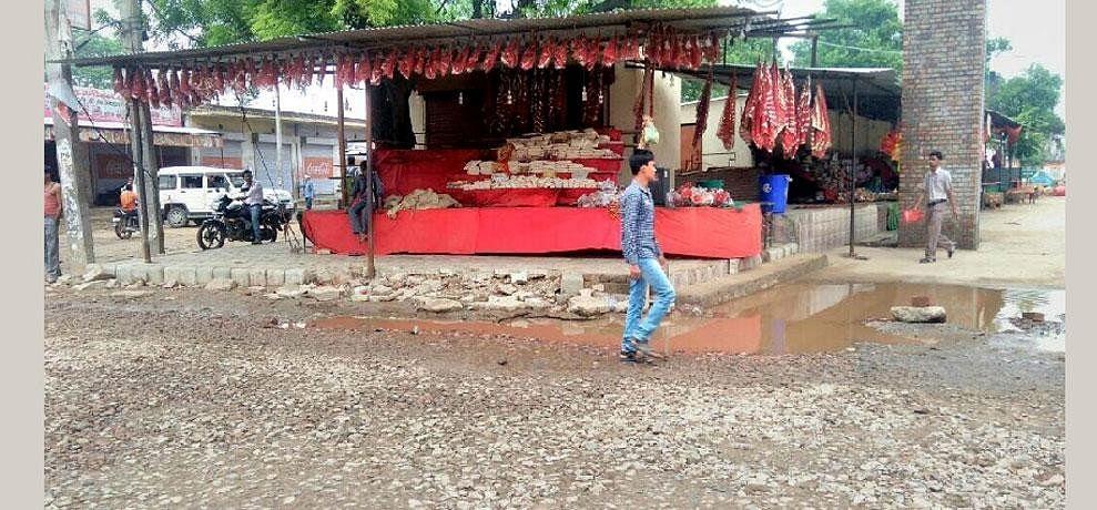 shitla mata mandir road is destructed from 6 months