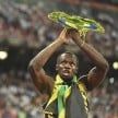 Usain Bolts lands in Rio to Hone is Skills