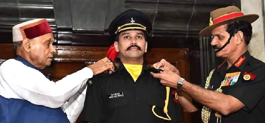 Anurag Thakur becomes first serving MP to join Territorial Army, live photos.