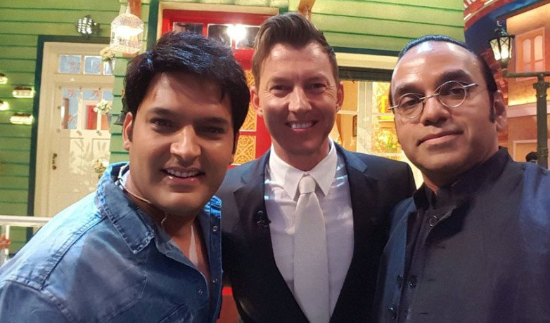 brett lee in kapil sharma show for film promotion