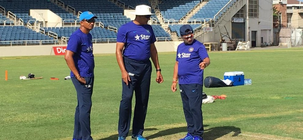 Team India Hit Nets For Second Test Against West Indies
