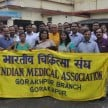 IMA held protest in against of clinical estaablishment act