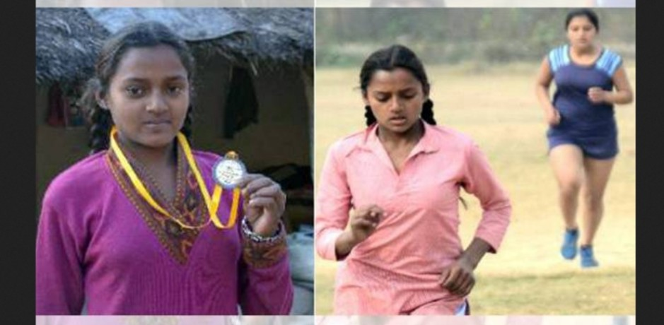Baksho Devi Won Gold Medal in 3000 Meter Race.