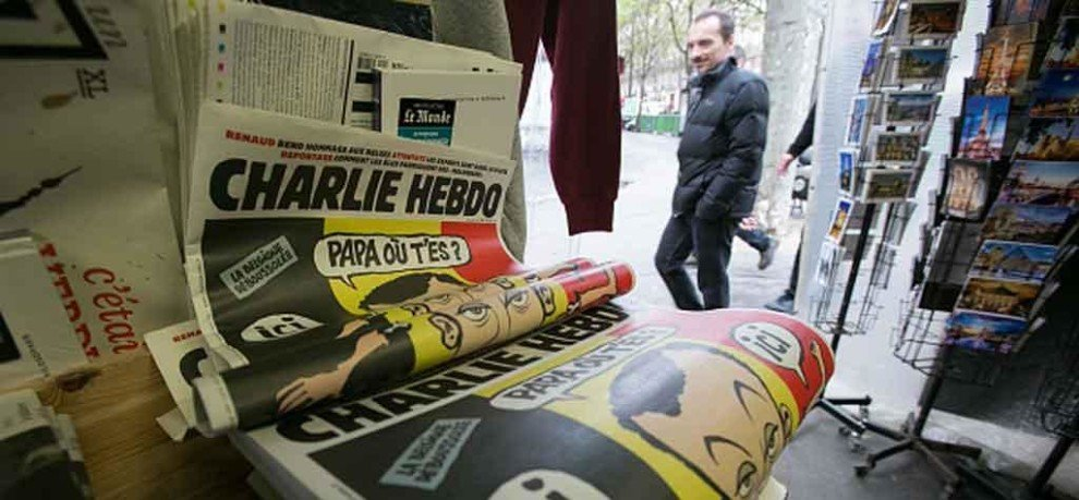 charlie hebdo published images of naked muslims and now facing imminent attack