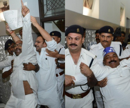 ruckus in up vidhan sabha in budget session