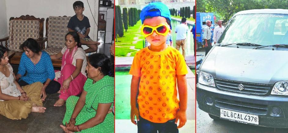 the innocent child crushesed by  school van, police arrested the absconding driver