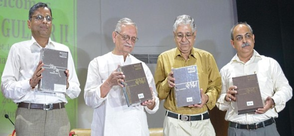 Indian poet and lyricist Gulzar visit punjab university chandigarh
