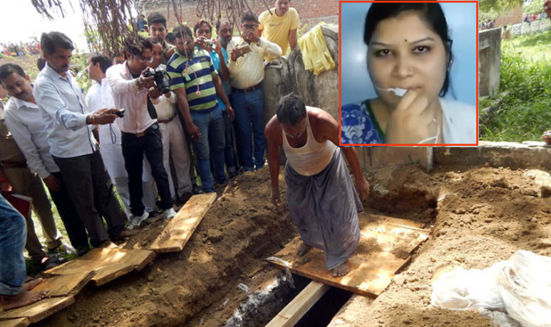 hathras honor killing: police dig out girl's body from the grave