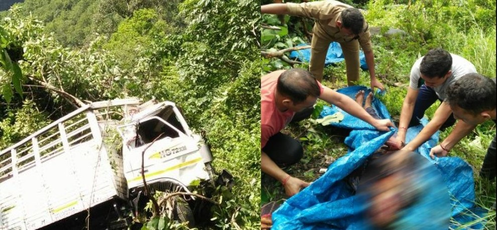 truck fell into gorge, one died.
