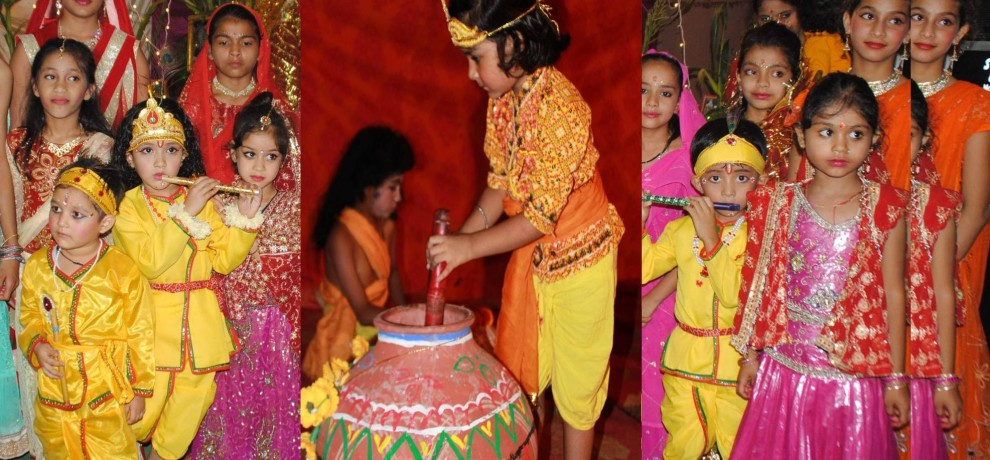 krishna birth celebration at janmashtami in dehradun.