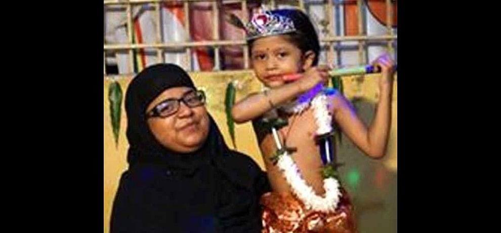 pictures of muslim women celebrate krishna janmashtami