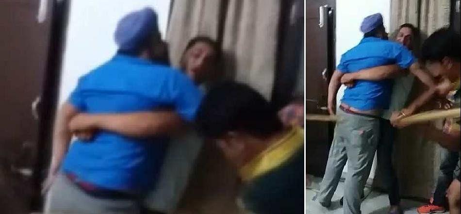 man beaten by wine mafia gang in jagadhari, video and photos viral on social media