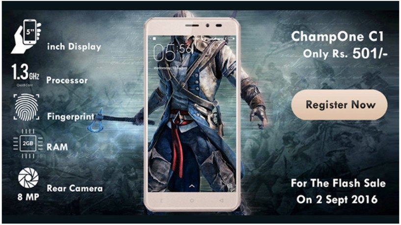 ChampOne C1 rival of freedom 251 at Rs 501