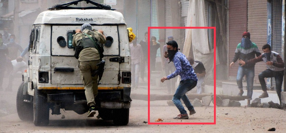 Stone pelting continue in Kashmir