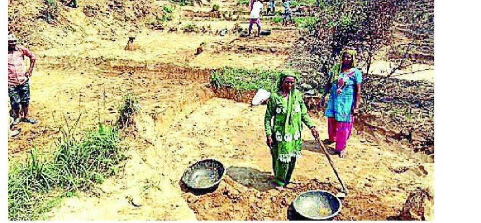 Taking the deceased Sitaram MGNREGA wages from two years!