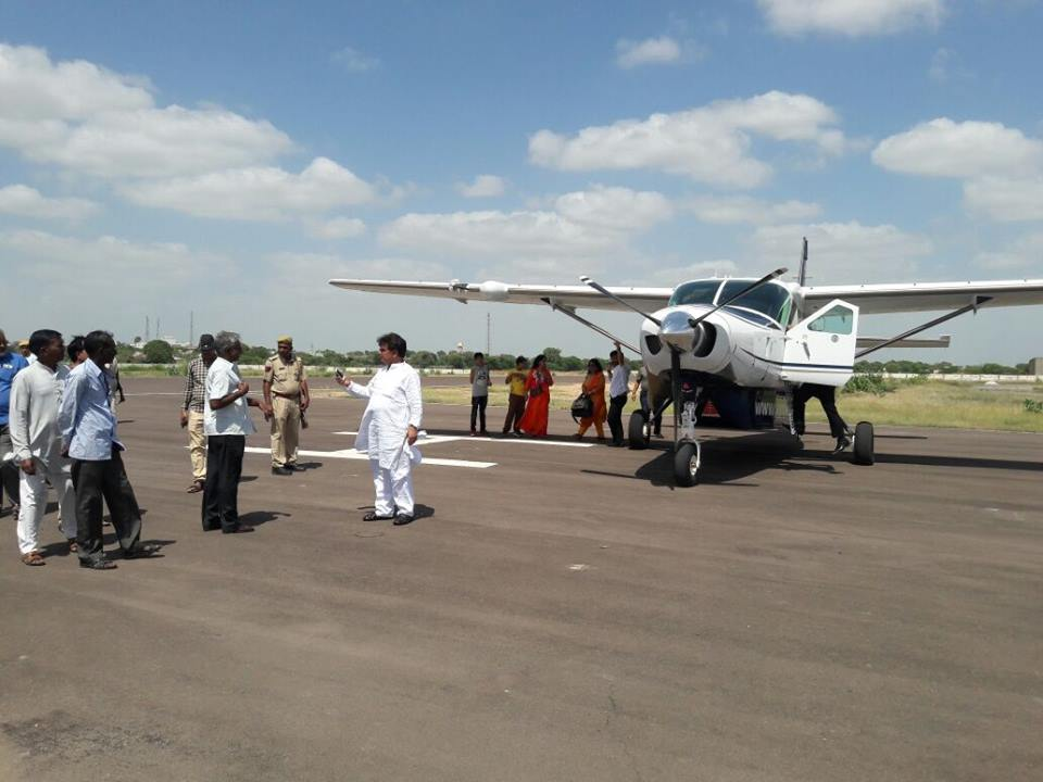 air flight going to start for salasar balaji, supreme airlines will provide 9 seater plane