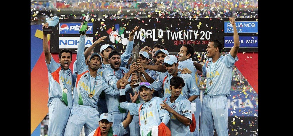 in this day of year 2007 india became first t-20 champion