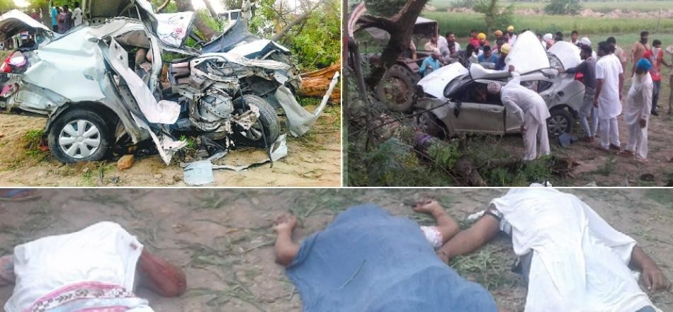 Car falls into ditch, killing five people