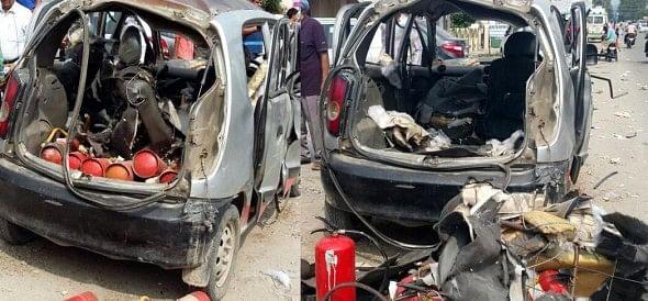 blast in car in haridwar.