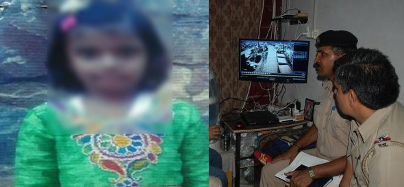 six years old girl kidnapped in panipat of haryana, crime captured in cctv