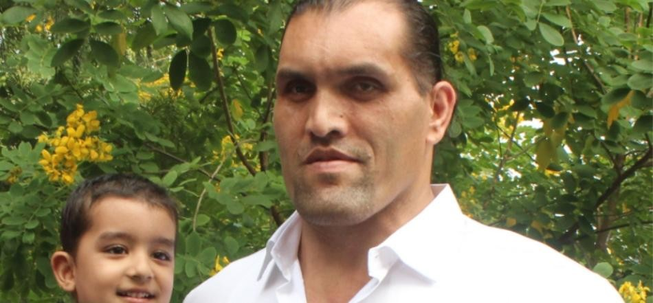 wwe champion the great khali emotional speech in press conference in chandigarh