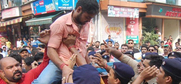 BJP members of Congress are going to office from the police clash