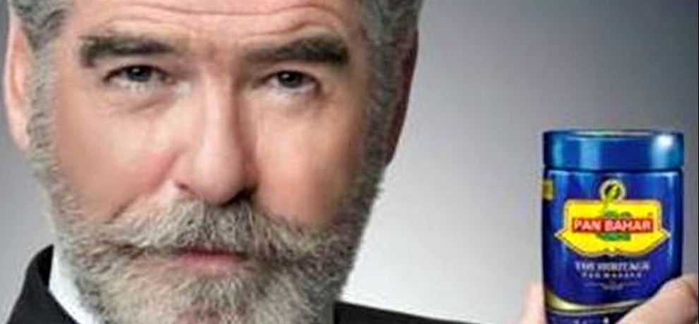 pierce brosnan says he is shocked by pan bahar ad