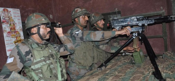unprovoked ceasefire violation on Loc by pakistan army retaliation